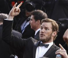 Chris Pratt from Parks and recreation being awesome at the oscars. :)