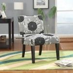 Coaster Furniture - Perfect Match Grey Big Flowers Accent Chair - 902050   SPECIAL PRICE: $309.30