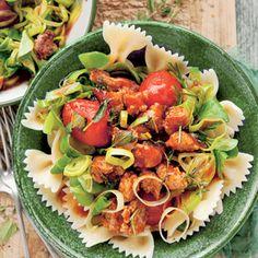 Recept - Farfalle met saucijs & prei - Allerhande