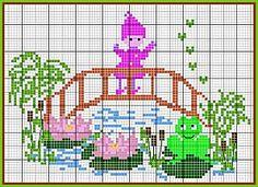 Bridge Over Water Lilies · Cross-Stitch | CraftGossip.com