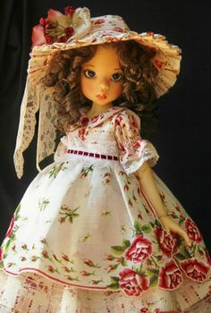 English Cottage OOAK Outfit for Kaye Wiggs MSD Layla ~ Glorias Garden