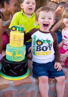 John Deere Tractor Themed Birthday Party - Kara's Party Ideas - The Place for All Things Party