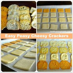 Easy Peasy Cheesy Crackers - I did this by accident once by leaving a sandwich with cheese in the toaster oven for too long.