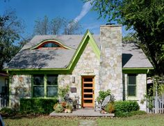 Attic Conversion to Bedroom - traditional - exterior - austin - CG Design-Build Cottage Design, Cottage Style, House Design, Modern Cottage, Front Door Design, Window Design, Attic Conversion Bedroom, Cottage Windows, Storybook Cottage