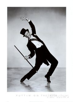 Fred Astaire Dancing in Black Top Hat and White Tie. Fred Astaire is well known for being a beloved American film and stage star. His legacy includes dance, cho Fred Astaire, Shall We Dance, Lets Dance, Fred Tattoo, Vintage Hollywood, Classic Hollywood, Tanz Poster, Looks Dark, Fred And Ginger