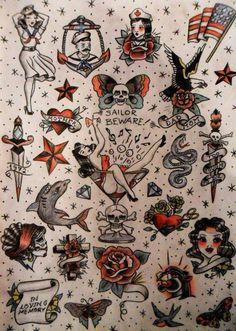 Ideas Tattoo Traditional Old School Sleeve Sailor Jerry Tattoos 3d, Tattoos Mandala, Trendy Tattoos, Body Art Tattoos, Tattoo Drawings, Sleeve Tattoos, Cool Tattoos, Tatoos, Arabic Tattoos