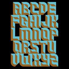 bevelon font by paul bokslag Graffiti Lettering Fonts, Typography Alphabet, Types Of Lettering, Vintage Typography, Typography Fonts, Hand Lettering, Vintage Logos, Graphic Design Typography, Lettering Design