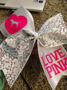 Love+Pink+Victoria's+Secret+Cheer+Bow+by+BackhouseBowtique+on+Etsy,+$15.00