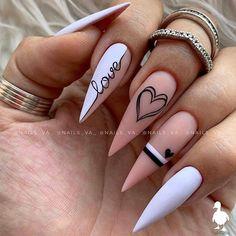 Nagellack Design, Nagellack Trends, Cute Acrylic Nail Designs, Best Acrylic Nails, Funky Nail Designs, Aycrlic Nails, Swag Nails, Coffin Nails, Kylie Nails
