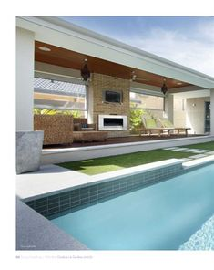 Outdoor understated outdoor pool area