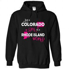 COLORADO-RHODE ISLAND girl 03HPink - #tshirt quilt #cheap sweater. SIMILAR ITEMS => https://www.sunfrog.com/States/COLORADO-2DRHODE-ISLAND-girl-03HPink-Black-Hoodie.html?68278