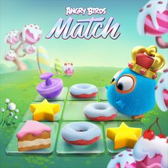 Angry Birds Match: The cutest match & collect game ever! Candy Crash, Anime Girl With Black Hair, Candy Games, Game Effect, Casual Art, 2d Game Art, Match 3 Games, Candy Crush Saga, Game Logo Design