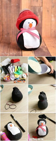 No-Sew Sock Penguin Craft