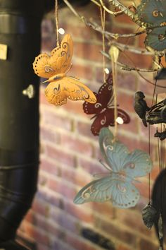 Tin butterfly ornament