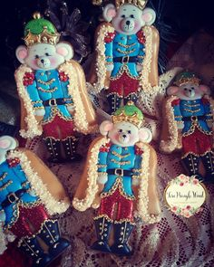 Mouse king, nutcracker cookies, Christmas cookies, gingerbread cookies, keepsake cookie gift, decorated cookies