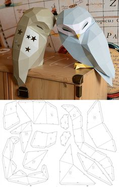 Owl Model Owl Low poly Owl Sculpture Owl paper Papercraft Kit DIY Paper Crafts animals Owl Paper, Paper Crafts, Low Poly, Diy Kits, Arts And Crafts Kits Instruções Origami, Paper Crafts Origami, Paper Crafts For Kids, Cardboard Crafts, Diy Paper, Paper Crafting, Fun Crafts, Origami Flowers, Diys With Paper
