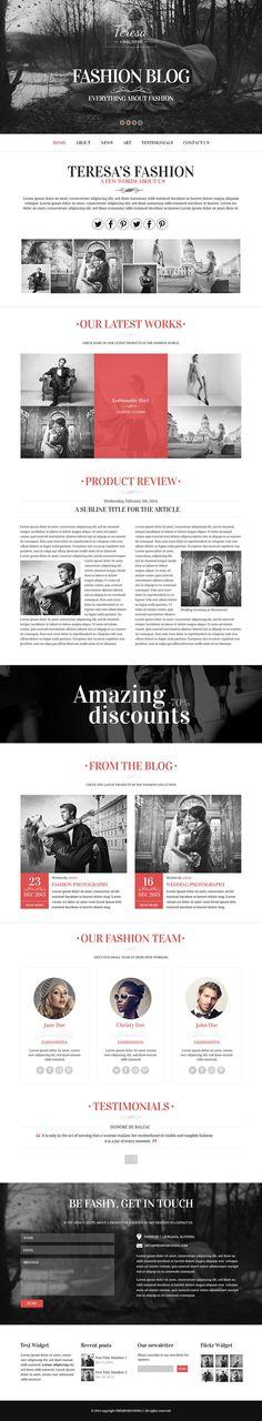 Teresa - A Fashion Theme   web   Pinterest