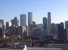 Veduta dagli uffici della Camera di Commercio Italiana delle due principali aree commerciali di Pechino, Sanlitun e Wangfujin.