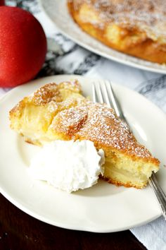 This Italian Apple Cake is super simple and one-bowl dessert! It has a delicious lemony batter and is absolutely packed with fresh apple slices.