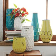 Hive Vases | west elm (already have this in yellow)