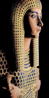 Cedarwood coffin of Queen Ahmose Meritamun, daughter of Ahmose I and Queen Ahmose Nefertari, and sister and wife of King Amenhotep I, from her tomb at Deir el-Bahri in western Thebes.