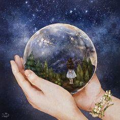 밤하늘 스노우볼 (http://grafolio.com/illustration/162017)  #일러스트 #일러스트레이션 #스노우볼 #환상 #별빛 #상상 #밤하늘 #별 #illust #illustration #drawing #sketch #paint #girl #snowball #night #nightsky #star #starlight #imagination