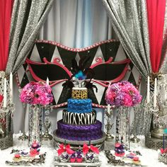 919c0ee179 Animal print masquerade Quinceañera party cake! See more party planning  ideas at CatchMyParty.com