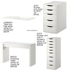 New Photos 31 Ideas Bedroom Desk Ideas Make Up Ik. New Photos 31 Ideas Bedroom Desk Ideas Make Up Ikea Hacks Fo. Suggestions Buying a well-designed couch is really a large decision and not one to make lightly. Furniture Vanity, Vanity Decor, Deco Furniture, Furniture Redo, Furniture Projects, Furniture Design, Diy Projects, Bedroom Desk, Room Ideas Bedroom