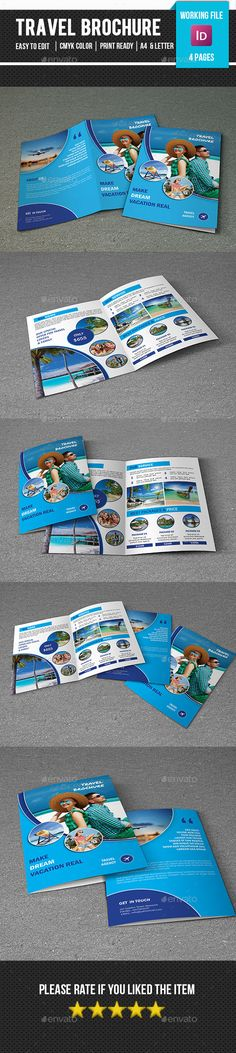 Travel Tour Brochure Template InDesign INDD #design Download: http://graphicriver.net/item/travel-tour-brochure-templatev319/13432215?ref=ksioks
