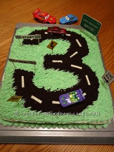 Bryce's Cake with a Road ...This website is the Pinterest of birthday cakes