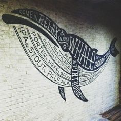 typeverything.com - Ale Whale at Pinthouse Pizza byJoeSwecSignPainting.