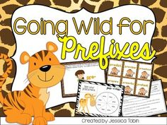 Prefixes Centers: Going Wild for Prefixes (pre-, re-, un-, mis-)-In this activity pack, I focus on four prefixes for the students. There are five games per set of prefix, so ten games in all.Games you will find in this pack:-Matching Word to Definition-I Have, Who Has?-Spin a Prefix Word-Match the Zookeeper's Animals-Fill-in the Prefix PrintableClick here for the Suffix PackGoing Wild for SuffixesOR Click here for the Bundle!Going Wild Bundle Ten Games, Prefixes And Suffixes, Teacher Newsletter, Spin, Vocabulary, Fill, Students, Teaching, Activities