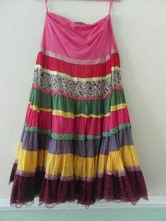 Georgous Boho colourful layered gypsy skirt !! Like new ! Great deal do not miss !