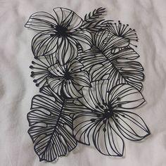 #피어나다 #페이퍼커팅 #papercutting Paper Cutting, Cut Paper, Paper Lace, Pop Up Cards, Kirigami, Botanical Prints, Paper Crafts, Script, Flowers