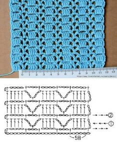 Diy Crafts - Diy Crafts - Crochet World added a new photo. Crochet Stitches Chart, Crochet Edging Patterns, Crochet Motifs, Crochet Diagram, Crochet Designs, Knitting Patterns, Gilet Crochet, Crochet Baby, Free Crochet