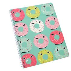 """Spiral Notebook, College Ruled, 2 subject, 160pgs, 8.5"""" x 11"""" - Lime Green with Donut : Target"""