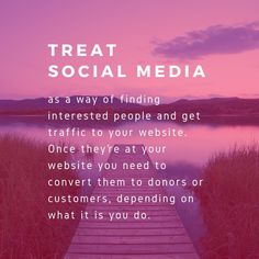 Treat social media as a way of finding interested people and get traffic to your website. Read more: How to make the most of social media for your nonprofit. Social Media Marketing, Digital Marketing, Lead Generation, Non Profit, Read More, Wordpress, Website, Tips, People
