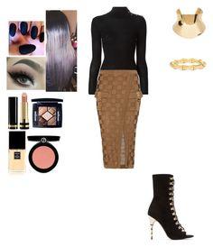 """Sans titre #400"" by insafsat on Polyvore featuring mode, Balmain, Gucci, Armani Beauty, Chanel et Christian Dior"