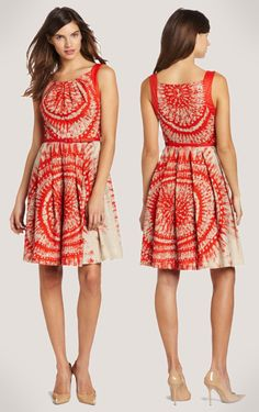 Red Clay Work Dress