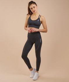 d902e8de5bc64 Gymshark Seamless Cross Back Sports Bra - Black Hard Workout, Workout Gear,  Workout Attire
