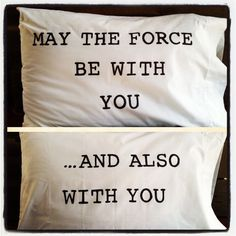 May the Force be with you pillow case set by SatMorningPancakes, $20.00. Love!