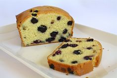 Perfection Pound Cake With Blueberry