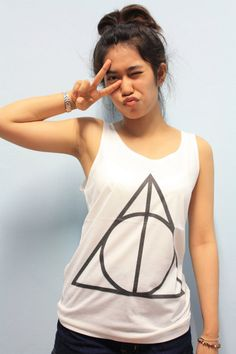Deathly Hallows Normal Symbol Sign Harry Potter  Women Sleeveless Tank Top Tanktop Tshirt T Shirt S,M,L on Etsy, $14.99