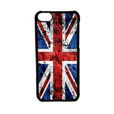 CellPowerCasesTM Grunge British Flag Case for iPhone 5c (Black Case) (37 SAR) ❤ liked on Polyvore featuring accessories, tech accessories, phone cases, cases, cellphone cases, phone and black