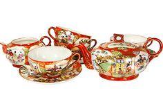 Japanese Tea Set, I have a cup and saucer like this Clay Teapots, Teapots And Cups, Teacups, Japanese Egg, Japanese Tea Set, Egg Shell, Types Of Tea, Tea Service, Coffee Set