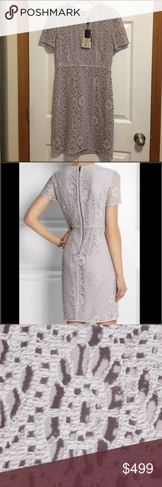 Burrberry London Purple Lace Dress Fashion Forward and Classy.                                    This dress has beautiful floral lace detailing and top notch craftsmanship.                                 Size:12 Burberry Dresses