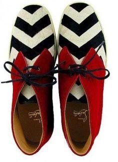stripes polka dots and pom poms - myLusciousLife.com - striped shoes.jpg