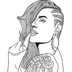 Coloring Pages For Girls, Coloring Pages To Print, Coloring Book Pages, Coloring Sheets, Fairy Coloring, Mandala Coloring, Cute Wall Decor, Coloring Pages Inspirational, Fantasy Women