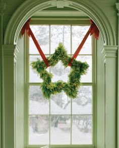 star wreath... nice way to hang it, also