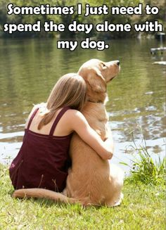 I loved hugging my yellow lab !